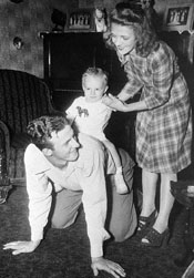 Stan, Lillie, and Baby Dick Musial