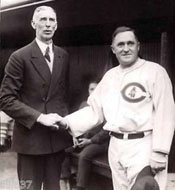 Managers Connie Mack and Joe McCarthy