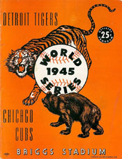 1945 World Series Program - Detroit