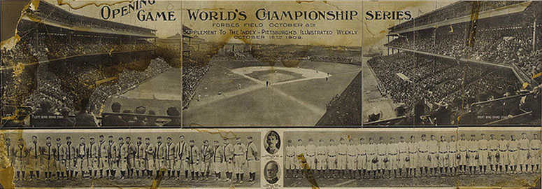 1909 World Series Game 1 at Forbes Field