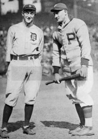 Ty Cobb & Honus Wagner at 1909 World Series