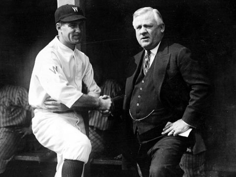 Managers Bucky Harris and John McGraw