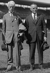 Commisioner Kennesaw Mountain Landis and Senators' owner Clark Griffith