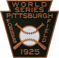 1925 Pirates World Series Patch