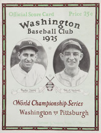 1925 World Series Program