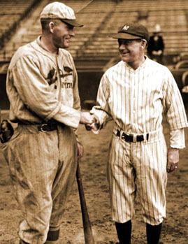 Opposing managers before 1926 World Series.