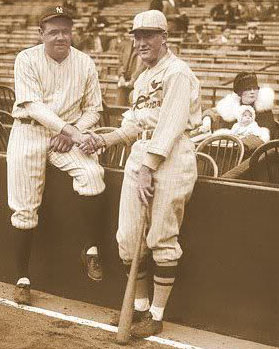 Babe Ruth and Rogers Hornsby 1926 World Series