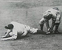 Hornsby tags Ruth to end Game 7