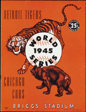 1945 Detroit World Series Program