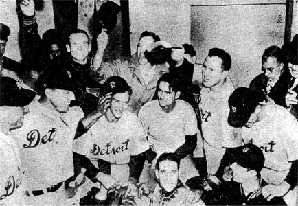Tigers celebrated their victory in the 1945 World Series.