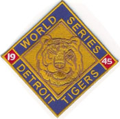 Tigers World Series Patch