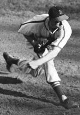 Harry Brecheen pitching in Game 2 of 1946 World Series