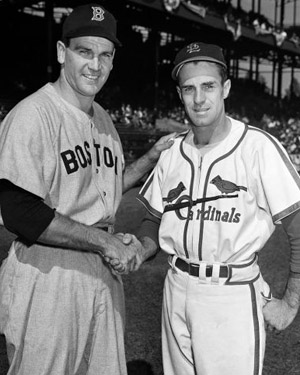 Boo Ferriss and Murry Dickson before Game 7