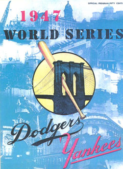 1947 World Series Program - Ebbets Field