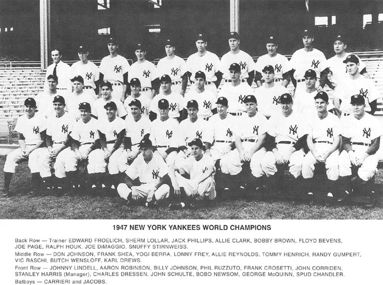 1947 World Champion New York Yankees