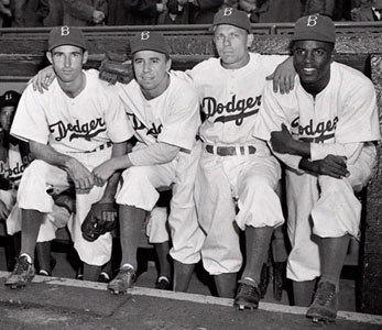 1947 Brooklyn Dodgers' infield