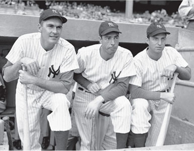 1947 Yankees' outfield