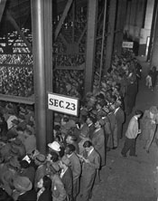 1947 World Series Game 1 - Standees