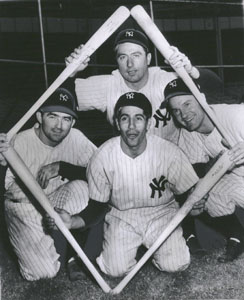 1947 New York Yankees Infield