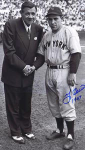 Babe Ruth and Yogi Berra 1947