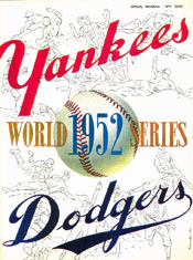 1952 World Series Program