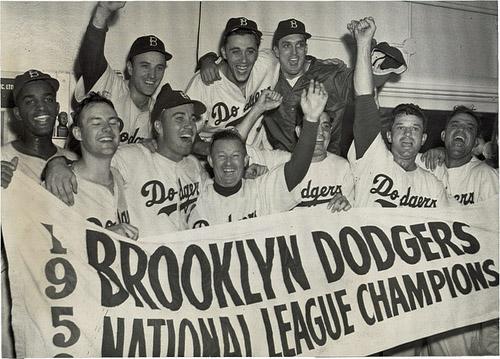 1955 World Champions Color Schaefer Beer Brooklyn Dodgers