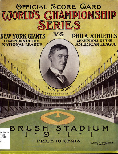 1911 World Series Program