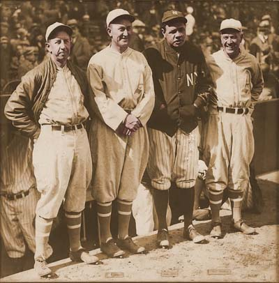 Eddie Collins, Ty Cobb, Babe Ruth, Tris Speaker