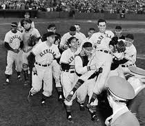 Bearden Carried Off after World Series Victory