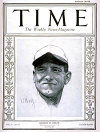 George Sisler on Time Cover