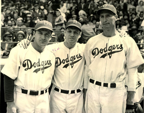 Joe Medwick, Leo Durocher, and Curt Davis