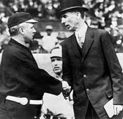 Managers John McGraw and Connie Mack
