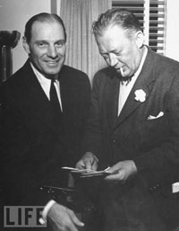 Dodgers Manager Leo Durocher and GM Larry MacPhail