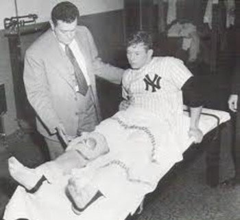 Mantle in Clubhouse after Injury