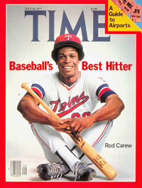 Rod Carew on the cover of Time