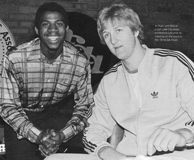Magic Johnson and Larry Bird 1979
