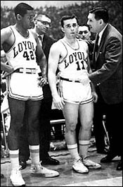 George Ireland with Loyola players