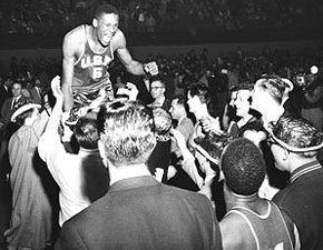 Russell after '55 Championship Game