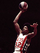 Dr. J with New Jersey Nets