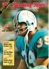 Dolphins FB Larry Csonka on Sporting News Cover