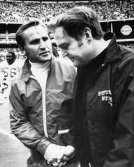 Don Shula and Chuck Noll after game