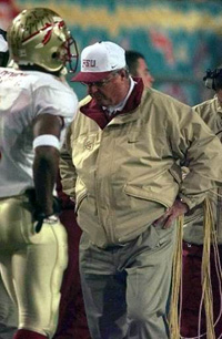 Coach Bobby Bowden at Fiesta Bowl