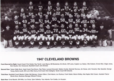 1947 AAFC Champion Cleveland Browns