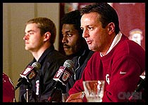 OU Coach Bob Stoops and QB Jeff Heupel