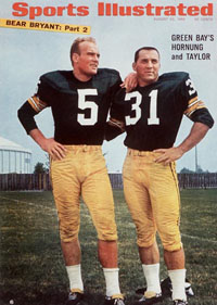 Paul Hornung, Jim Taylor on SI Cover
