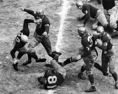 1937 Championship Game Action - 1