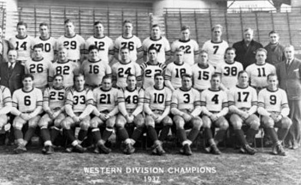 1937 NFL West Division Champions