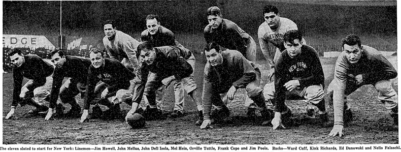 1939 New York Giants starters