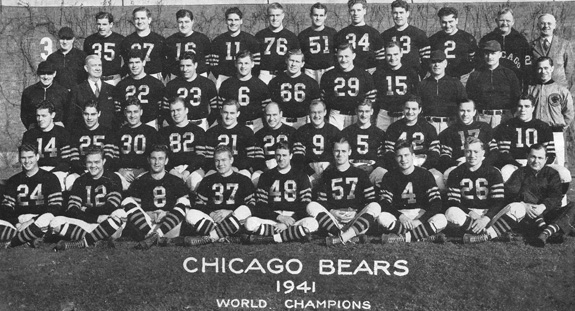 1941 NFL Champion Chicago Bears
