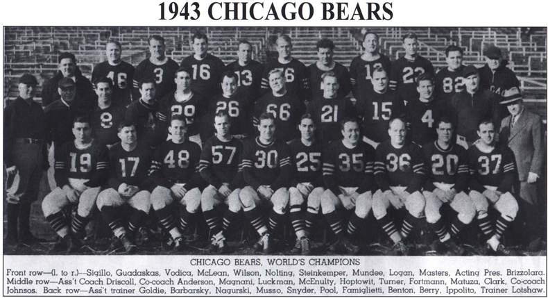 1943 NFL Champion Chicago Bears